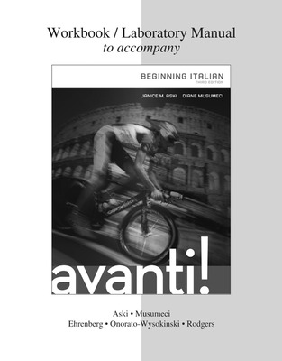 WORKBOOK/LABORATORY MANUAL FOR AVANTI