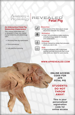 Anatomy & Physiology Revealed Online Access (Fetal Pig Version)