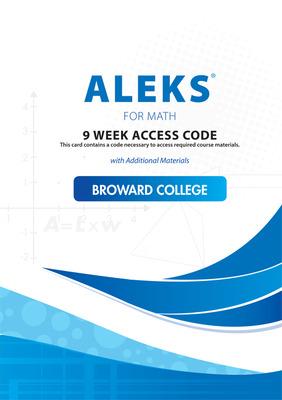 LSC  (BROWARD COLLEGE SOUTH) : ECOMMERCE Aleks 9 Week code