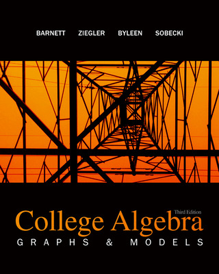 Combo: College Algebra: Graphs & Models with ALEKS User Guide & Access Code 1 Semester