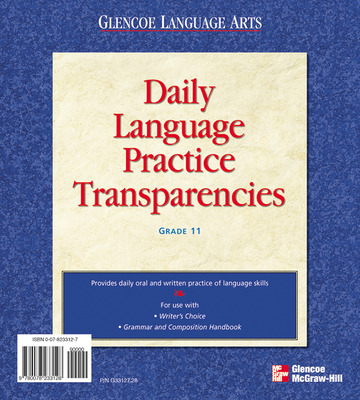 Writer's Choice © 2001, Grade 11, Daily Language Practice Transparencies