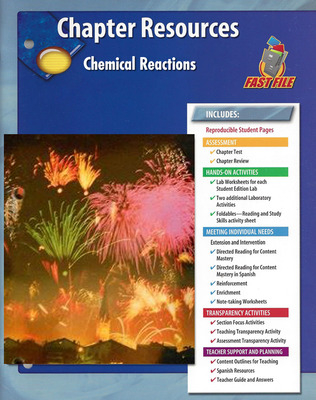 Glencoe Physical iScience, Grade 8, Chapter Fast File: Chemical Reactions