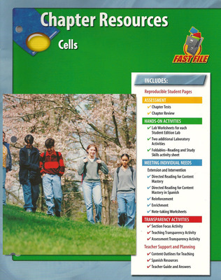 Glencoe Life iScience, Grade 7, Chapter Fast Files: Cells