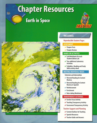 Glencoe iScience, Level Green, Grade 7, Chapter Fast Files: Earth in Space