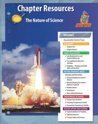 Glencoe iScience, Level Green, Grade 7, Chapter Fast Files: The Nature of iScience