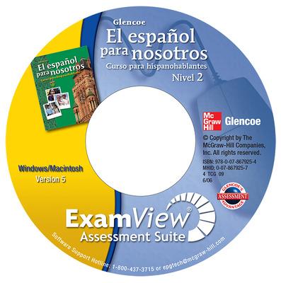 El español para nosotros: Curso para hispanohablantes Level 2, ExamView Pro Testmaker CD-ROM