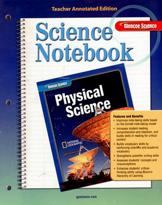 Glencoe Physical iScience, Grade 8, Science Notebook, Teacher Edition
