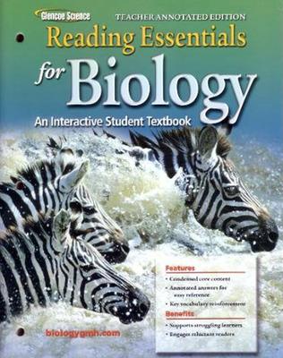 Glencoe Biology, Reading Essentials, Teacher Annotated Edition