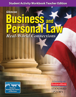 Business and Personal Law, Real World Connection, Student Activity Workbook TAE