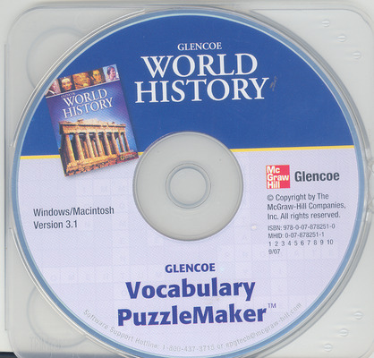 Glencoe World History, Vocabulary PuzzleMaker CD-ROM
