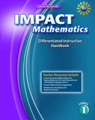 IMPACT Mathematics, Course 1, Differentiation Handbook