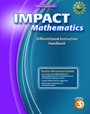 IMPACT Mathematics, Course 3, Differentiation Handbook