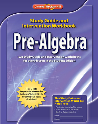 Pre-Algebra, Study Guide & Intervention Workbook