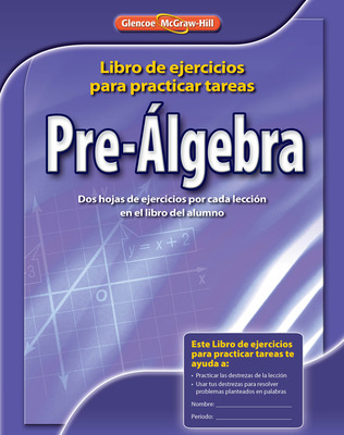 Pre-Algebra, Spanish Homework Practice Workbook