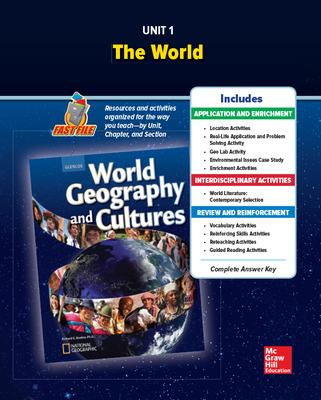 World Geography and Cultures, Unit 1 Resources Book