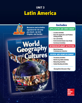 World Geography and Cultures, Unit 3 Resources Book