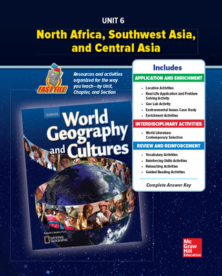 World Geography and Cultures, Unit 6 Resources Book