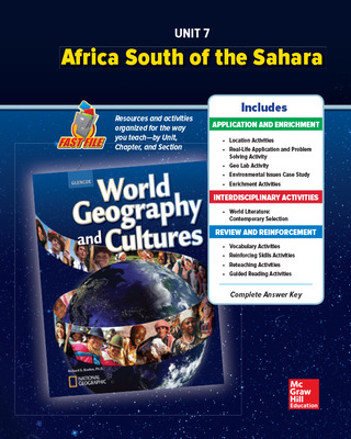 World Geography and Cultures, Unit 7 Resources Book