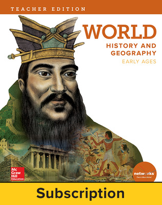 World History and Geography, Early Ages, Teacher Lesson Center, 1-year subscription