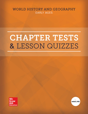 World History and Geography, Early Ages, Chapter Tests & Lesson Quizzes