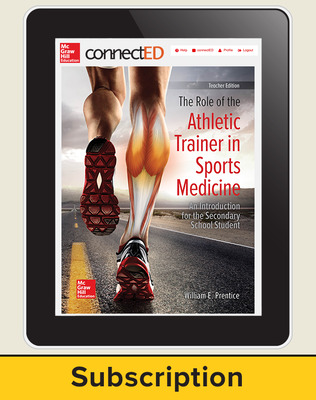 The Role of the Athletic Trainer in Sports Medicine: An Introduction for the Secondary School Student, Online Teacher Edition, 6-year subscription