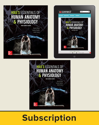 Shier, Hole's Essentials of Human Anatomy and Physiology, High School Ed, 2018, 1e, Premium Student Bundle with APR (Student Edition with Connect, Lab Manual), 6-year subscription