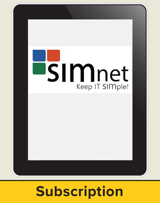 SIMnet for Office 2016, High School Version, Single Module, 1 Year Subscription