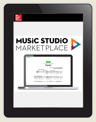 Music Studio Marketplace, Hal Leonard Levels 1-2: Mixed Pop Choral Music, 6-year Hybrid Bundle subscription