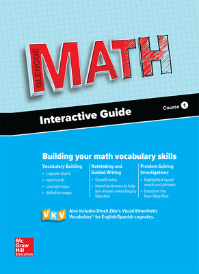 Glencoe Math 2016, Course 1 Interactive Guide for English Learners, Student Edition
