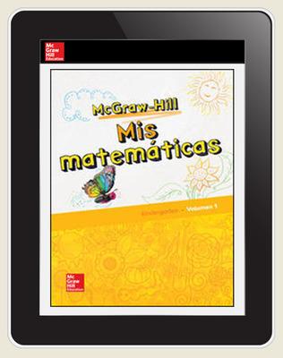 McGraw-Hill My Math, Grade K, Spanish Student Center 1 Year Subscription