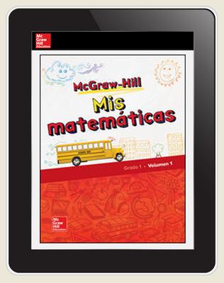 McGraw-Hill My Math, Grade 1, Spanish Student Center 1 Year Subscription