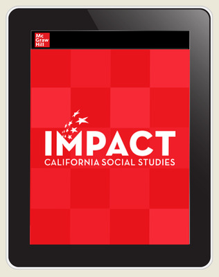 IMPACT: California, Grade 1, Online Teacher Center, 8-year subscription, A Child's Place in Time and Space