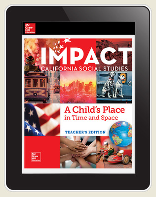IMPACT: California, Grade 1, Online Student Center, 1-year subscription, A Child's Place in Time and Space