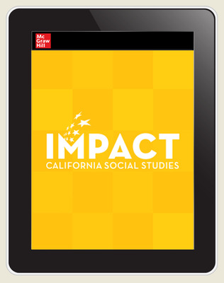 IMPACT: California, Grade K, Online Teacher Center, 8-year subscription, Learning and Working Now and Long Ago