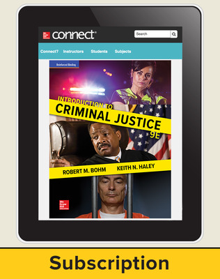 Bohm, Introduction to Criminal Justice, 2018, 9e, Connect, 1-year subscription