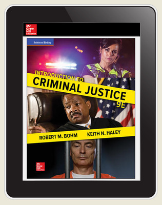 Bohm, Introduction to Criminal Justice, 2018, 9e, ConnectED eBook 1-year subscription