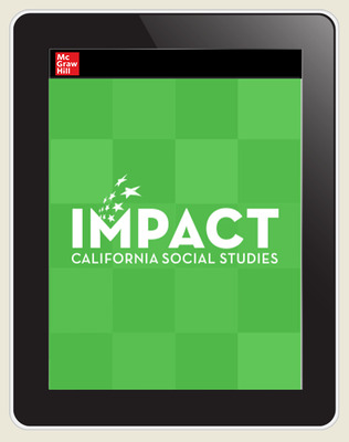 IMPACT: California, Grade 4, Online Student Center, 8-year subscription, California: A Changing State
