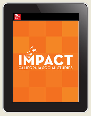 IMPACT: California, Grade 3, Online Student Center, 8-year subscription, Continuity and Change