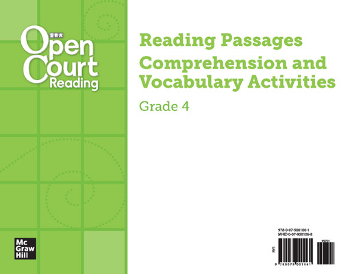 Open Court Reading Grade 4, Leveled Reading Cards