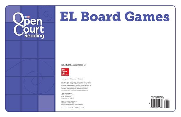 Open Court Reading, Grades K-5, English Language Game Mats