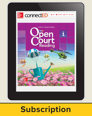 Open Court Reading Grade 4 Teacher License, 1-year subscription