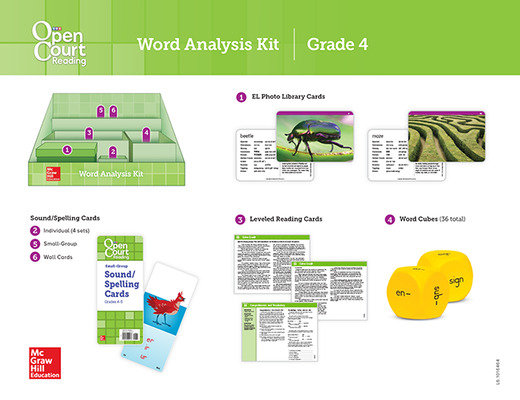 Open Court Reading Grade 4, Word Analysis Kit