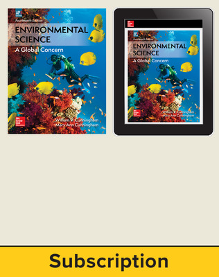 Cunningham, Environmental Science, 2018, 14e (AP Edition) Print and Digital bundle, 1-year subscription