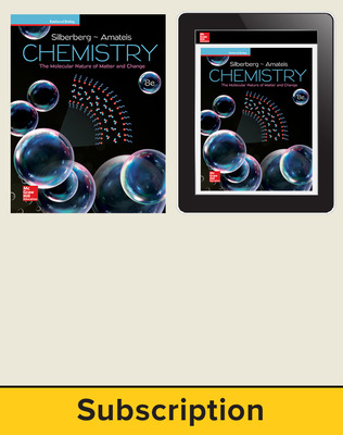 Silberberg, Chemistry: The Molecular Nature of Matter and Change © 2018, 8e (Reinforced Binding) AP advantage Print and Digital bundle, 1-year subscription
