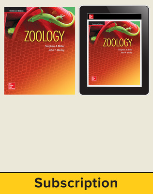 Miller, Zoology, 2016, 10e (Reinforced Binding) Standard Student Bundle, 1-year subscription
