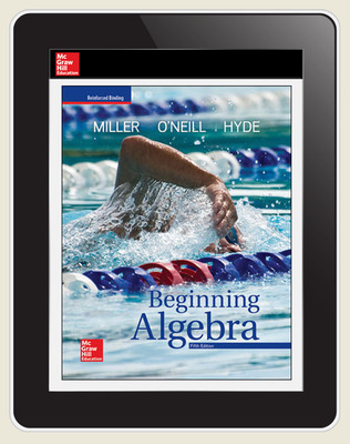 Miller, Beginning Algebra, 2018, 5e, ConnectEd eBook, 1-year subscription