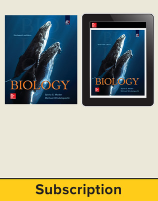 Mader, Biology, 2019, 13e (AP Edition), Print and Digital bundle, 1-year subscription