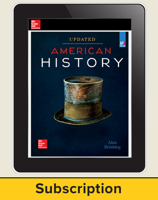 Brinkley, American History: Connecting with the Past UPDATED AP Edition, 2017 AP advantage Digital Student Subscription, 1-year subscription