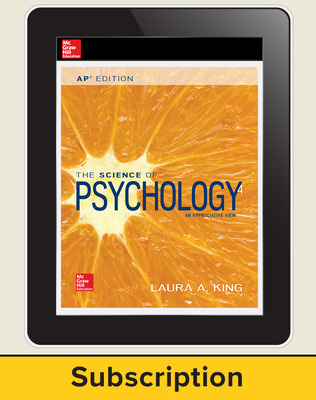 King, The Science of Psychology, 2017, 4e (AP Edition) AP advantage Digital Teacher Subscription, 1 yr subscription