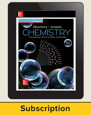 Silberberg, Chemistry: The Molecular Nature of Matter and Change © 2018, 8e (Reinforced Binding) AP advantage Digital Teacher Subscription, 6-year subscription